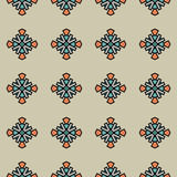 Helder vectorpatroon met abstracte geometrische vormen Stock Foto