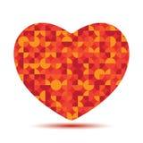 Helder veelhoekig rood hart Stock Afbeeldingen