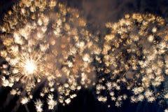 Helder verbazend vuurwerk Royalty-vrije Stock Foto's