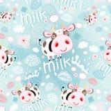 Textuur van de koeien en de melk vector illustratie