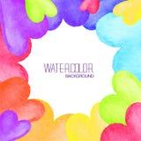 Helder waterverfkader Vector illustratie Royalty-vrije Stock Foto's