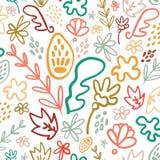 Helder welriekend mengsel van gedroogde bloemen en kruiden bloemen naadloos patroon royalty-vrije illustratie