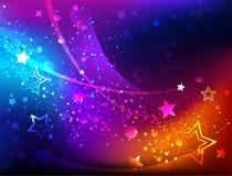Heldere abstracte achtergrond met sterren Stock Afbeelding