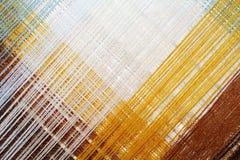 Heldere abstracte achtergrond van gekleurde draad Stock Foto