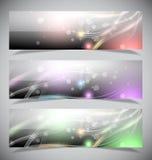 Heldere abstracte bannersinzameling. stock illustratie