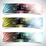 Heldere abstracte bannersinzameling. royalty-vrije illustratie