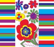 Heldere abstracte bloemenachtergrond Royalty-vrije Stock Afbeelding