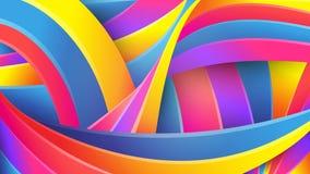 Heldere abstracte geometrische achtergrond Vector Kleurrijke kleuren van de regenboog Vervormde snijdende vloeibare lijnen Creati vector illustratie