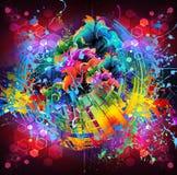 Heldere abstracte kleurenachtergrond royalty-vrije illustratie