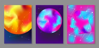 Heldere abstracte kosmische achtergronden met planeten vector illustratie