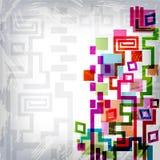 Heldere abstracte mozaïekachtergrond Stock Foto's