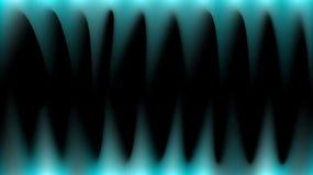 Heldere, abstracte, multicolored blauwe magische stralen van licht zoals brand, scherpe hoektanden, stalactieten op een zwarte ac vector illustratie