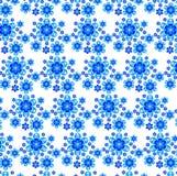 Heldere abstracte textuur van blauwe bloemen op een whi Stock Foto's
