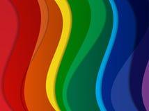 Heldere abstracte vectorregenboogachtergrond Royalty-vrije Stock Afbeeldingen