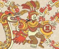 Heldere achtergrond in de Azteekse stijl Royalty-vrije Stock Afbeelding