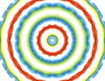 Heldere achtergrond met abstract radiaal patroon stock illustratie
