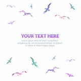 Heldere achtergrond met vogels, vectorillustratie Stock Afbeeldingen