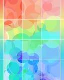 De regenboog borrelt achtergrond Stock Foto