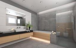 Heldere Badkamers met Candels Stock Afbeeldingen