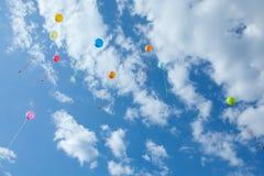 Heldere ballons Stock Afbeelding