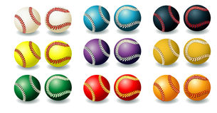 Heldere baseballs Stock Fotografie