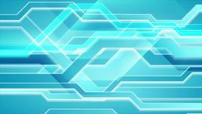 Heldere blauwe abstracte hi-tech videoanimatie stock video