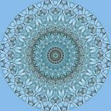 Heldere blauwe cirkel van glasflessen op lichtblauw Stock Fotografie