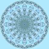 Heldere blauwe cirkel van glasflessen op lichtblauw Stock Afbeeldingen