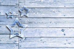 Heldere blauwe de groetkaart van de Kerstmisdecoratie Royalty-vrije Stock Afbeelding