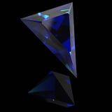 Heldere blauwe gem Royalty-vrije Stock Afbeeldingen