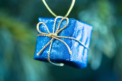 Heldere blauwe Kerstmisdecoratie Royalty-vrije Stock Foto's