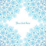 Heldere blauwe overladen bloemen vectorachtergrond Royalty-vrije Stock Afbeeldingen