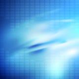 Heldere blauwe vlotte glanzende technologie-achtergrond Stock Afbeelding