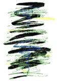 Heldere borstelslag en textuur Grunge vector abstract element Vectorillustratie, achtergrond, affiche Stock Foto's
