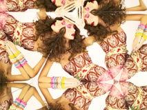 Heldere brunette in caleidoscoop Royalty-vrije Stock Afbeeldingen