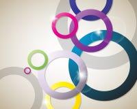 Heldere cirkels als achtergrond Royalty-vrije Stock Foto's