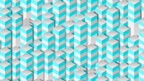 Heldere 3d geometrische technologie-kolommen abstracte videoanimatie royalty-vrije illustratie