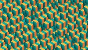 Heldere 3d geometrische technologie-vormen abstracte videoanimatie stock illustratie