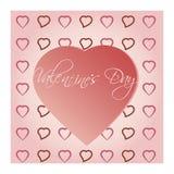Heldere de dagachtergrond van Valentine ` s Royalty-vrije Stock Foto
