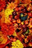 Heldere de herfst grunge achtergrond Stock Fotografie