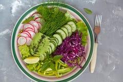 Heldere de zomersalade van groenten Royalty-vrije Stock Afbeelding