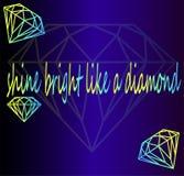 Heldere diamanten, reeks Royalty-vrije Stock Foto's