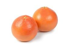 Heldere die grapefruit op witte achtergrond wordt geïsoleerd Royalty-vrije Stock Foto's