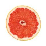 Heldere die grapefruit op witte achtergrond wordt geïsoleerd Royalty-vrije Stock Foto