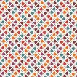 Heldere druk met geometrische vormen Eigentijdse abstracte achtergrond met herhaalde cijfers Kleurrijk naadloos patroon stock illustratie