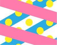 Heldere dynamische abstracte roze en blauwe linten als achtergrond royalty-vrije illustratie
