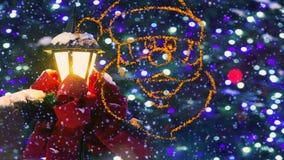 Heldere en Glanzende Geheimzinnigheid Kerstmisachtergrond vector illustratie