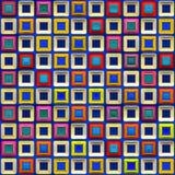 Heldere en kleurrijke tegels Stock Foto