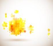 Heldere en zonnige paginalay-out voor uw presentatie. Stock Foto