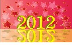 Heldere geïllustreerdem 2012 stock afbeeldingen
